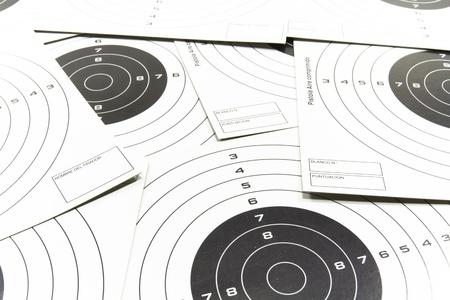 marksmanship: White targets for marksmanship