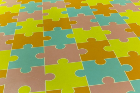 Plastic puzzle to play on a child school Stock Photo - 10351890
