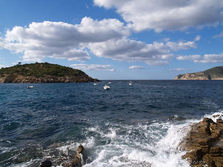 View of the beach with its cliffs of Mallorca photo
