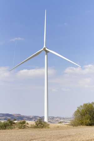 Wind turbines for renewable energy conversion located in Tarragona Stock Photo - 10778831