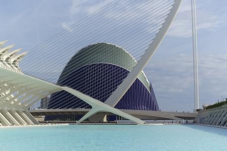 oceanographic: Valencia, Spain. October 15, 2011. The Oceanographer. October 15 2011.Edificio Oceanographic designed by architect Felix Candela, is the largest aquarium in Europe Editorial