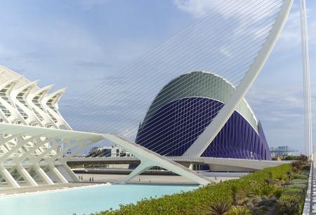 Valencia, Espa�a. 15 de octubre 2011. El ocean�grafo. 15 de octubre 2011.Edifice Oceanogr�fico dise�ado por el arquitecto F�lix Candela, es el mayor acuario de Europa