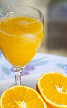 Valencia oranges for fresh juice photo