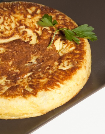 Delicious Spanish omelette with onions photo
