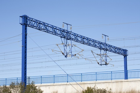 ave: Views of the overhead rail AVE, by its passage through Catalonia Editorial