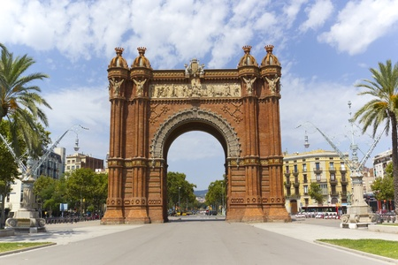 Arc de Triomphe in Barcelona, Catalonia Spain