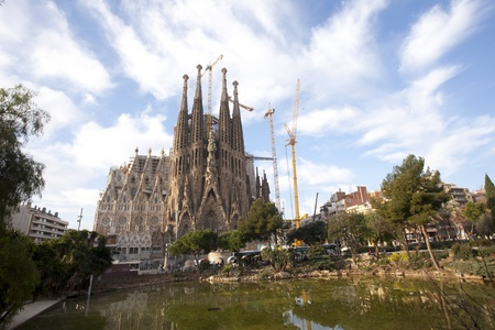 Templo de la Sagrada Familia en Barcelona, ??Espa�a, situada