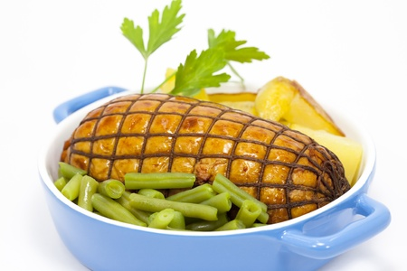 Roast beef with potatoes and vegetables Stock Photo - 12055181