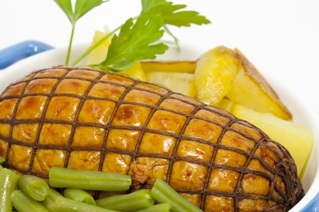 Roast beef with potatoes and vegetables Stock Photo - 12055187