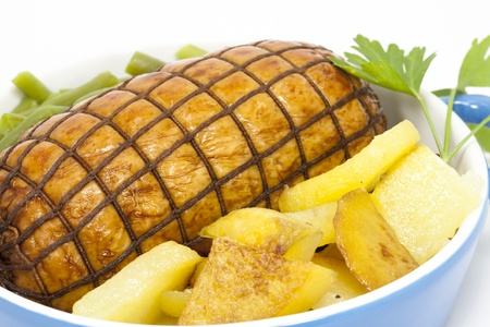 Roast beef with potatoes and vegetables Stock Photo - 12055188