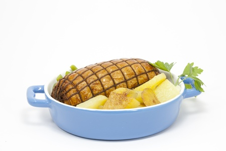 Roast beef with potatoes and vegetables Stock Photo - 12055174