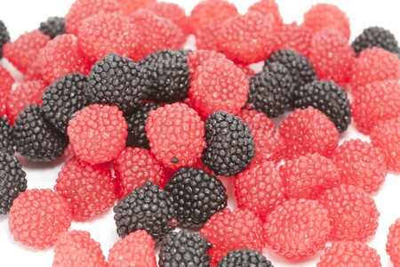 arrears: Jelly beans in a red and black berry
