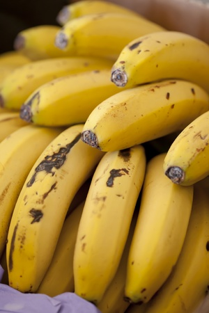 Close up of a delicious Canarian banana