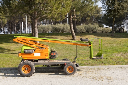 tree works: Electric crane for tree pruning or other works of high