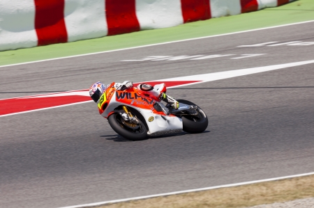 moto2: BARCELONA - SPAIN JUNE 24  Carlos Carcejas in the race for Moto2 race at 2012 Speed Championship in Spain at Montmelo circuit on June 24, 2012 Editorial