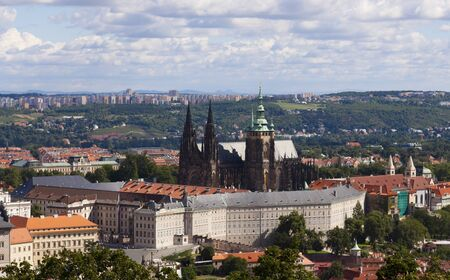 Prague - Hradcany and St  Vitus Cathedral photo