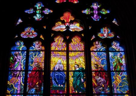 Vidrieras de San Vito en Praga, Rep�blica Checa