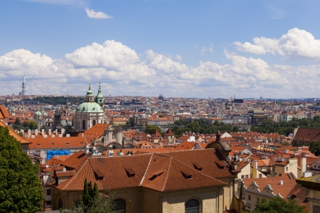 Czech republic prague - st  nicolas church and rooftops of mala strana photo