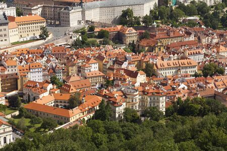 View from the top of Prague, Czech Republic photo