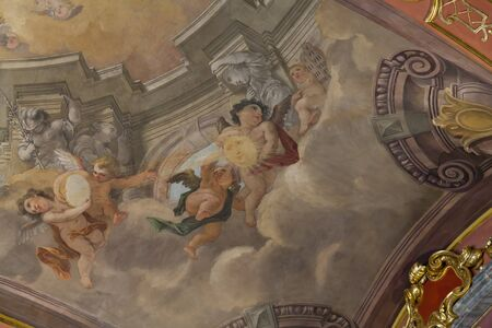 ceska: Ceilings and walls painted with artistic paintings