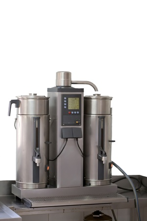 Industrial automatic coffee machines photo