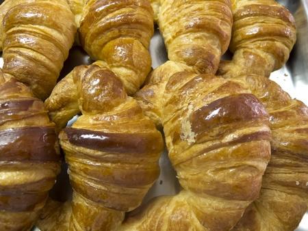 Fresh Croissant with caramelized white background Stock Photo - 15473630