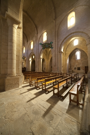 Monastery of Santa Maria de Poblet, located in the region Conca de Barbera. Tarragona