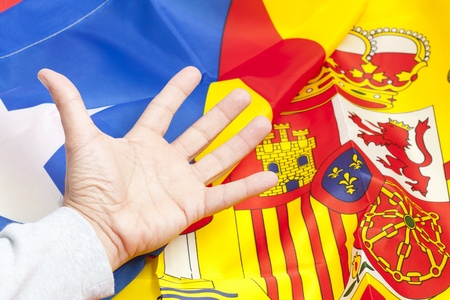 Flag independence against Spain's Catalonia Stock Photo - 16917306