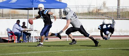 Cup Final Football Catalan among Rookies vs Badalona Dracs Barbera held in Barbera del Valles (Barcelona)