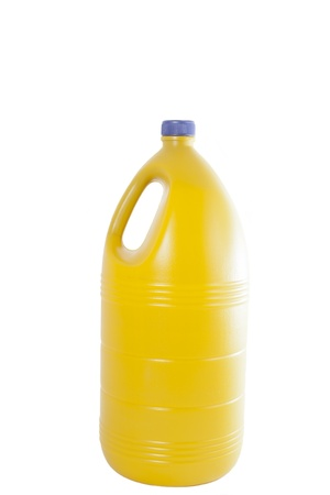 bleach: Boat bleach yellow on a white background Stock Photo