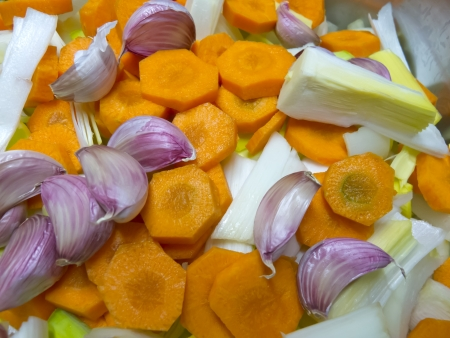 Cut and washed vegetables for cooking Stock Photo - 17731220