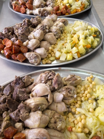 cooked meat: Cooked based catalan vegetables and cooked meat called Escudella