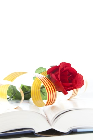 dyad: It is a day that they traditionally Catalunya couples a rose i give away a book Stock Photo