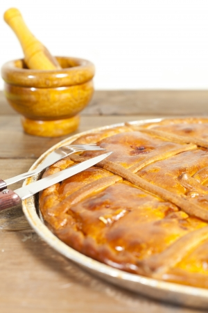 Empanada Gallega, Traditional pie stuffed with tuna or meat typical from Galicia, Spain