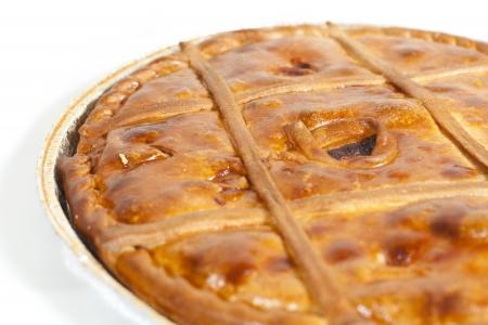 Empanada Gallega, pastel tradicional relleno de at? carne t?ca de Galicia, Espa?