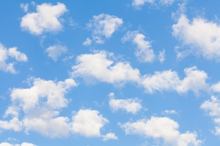 White clouds with blue sky in spring