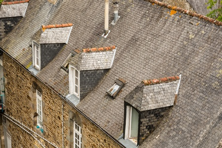 rance: View the town of Dinan, Brittany, France Editorial