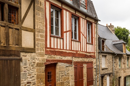 dinan: View the town of Dinan, Brittany, France Editorial