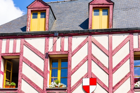 st malo: The city walls and houses of St. Malo in Brittany, France Editorial
