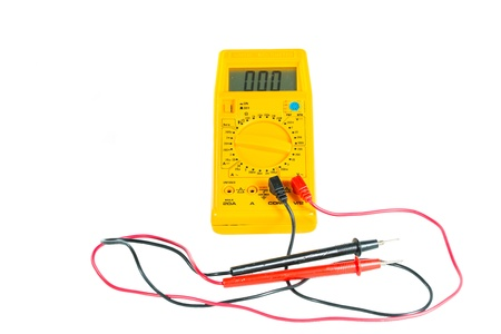 Digital tester on a white background