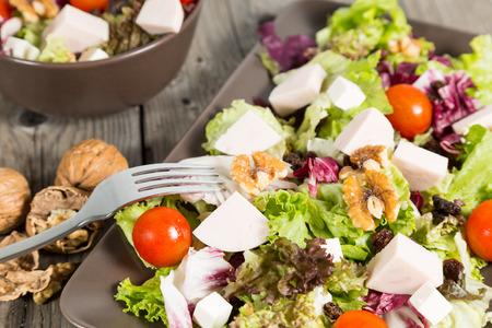 regimen: Fresh and healthy salad typical Mediterranean