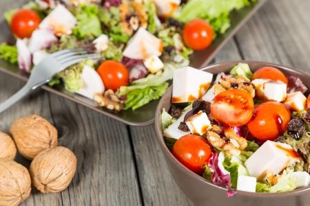 Fresh and healthy salad typical Mediterranean