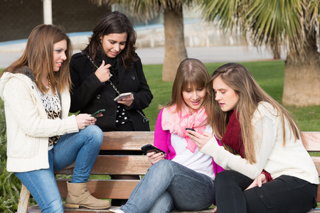 colleen: Meeting fellow students sending messages to mobile