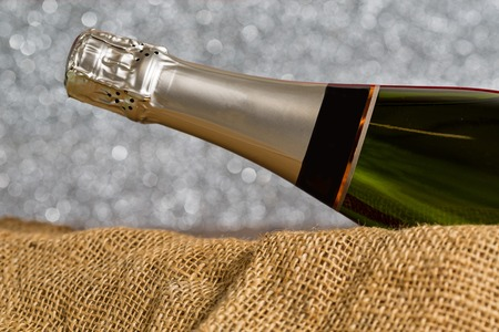cava: Bottle of cava with background blur at parties