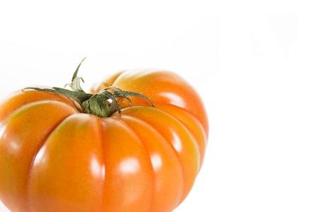 salubrious: Delicious and fresh tomato on white