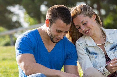 Couple weds at messages in your mobile phone