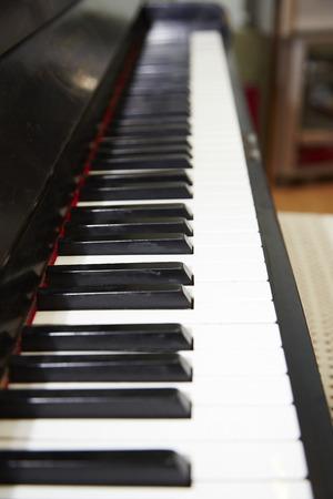 Closeup of a classical piano photo