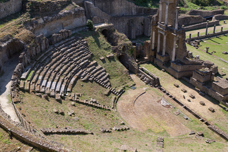 volterra: Old Romans Theater in Volterra, Tuscany, Italy