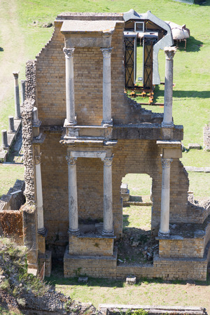 volterra: Old Romans Theater in Volterra, Tuscany, Italy