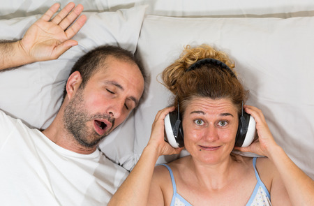 Husband snoring and sleep leaves his wife but she finds the solution